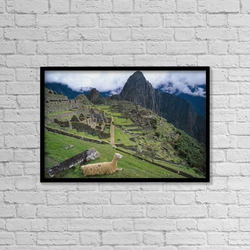 """Printscapes Wall Art: 18"""" x 12"""" Canvas Print With Black Frame - Travel by Chris Caldicott"""