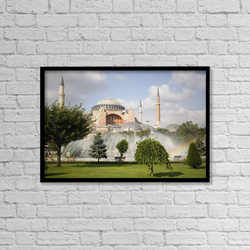 "Printscapes Wall Art: 18"" x 12"" Canvas Print With Black Frame - Architectural Exteriors by Carlos Sanchez Pereyra"