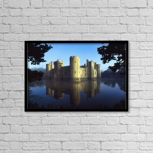 """Printscapes Wall Art: 18"""" x 12"""" Canvas Print With Black Frame - Architectural Exteriors by Chris Parker"""