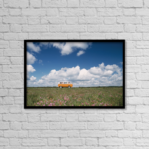 "Printscapes Wall Art: 18"" x 12"" Canvas Print With Black Frame - Scenic by Ian Cumming"
