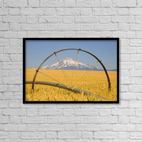 "Printscapes Wall Art: 18"" x 12"" Canvas Print With Black Frame - Agriculture by Craig Tuttle"