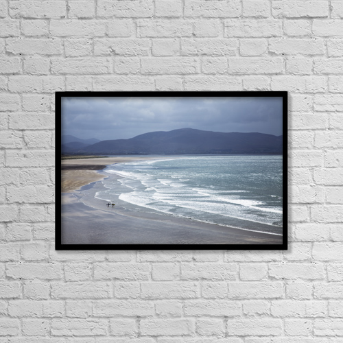 "Printscapes Wall Art: 18"" x 12"" Canvas Print With Black Frame - People by Peter Zoeller"