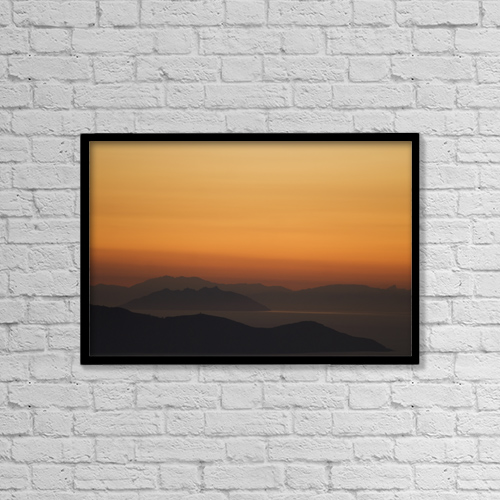 "Printscapes Wall Art: 18"" x 12"" Canvas Print With Black Frame - Santo Stefano Coastline At Sunset, Tuscany,Italy by Dosfotos"