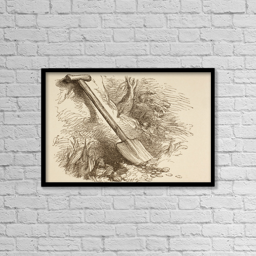 """Printscapes Wall Art: 18"""" x 12"""" Canvas Print With Black Frame - Agriculture by Ken Welsh"""