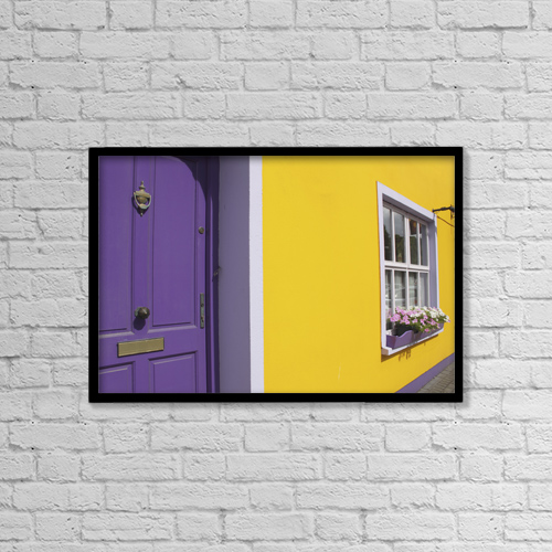 "Printscapes Wall Art: 18"" x 12"" Canvas Print With Black Frame - Architectural Exteriors by Trish Punch"