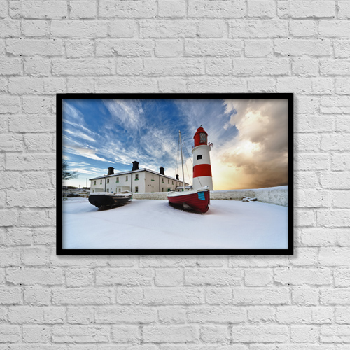 "Printscapes Wall Art: 18"" x 12"" Canvas Print With Black Frame - Nautical by John Short"