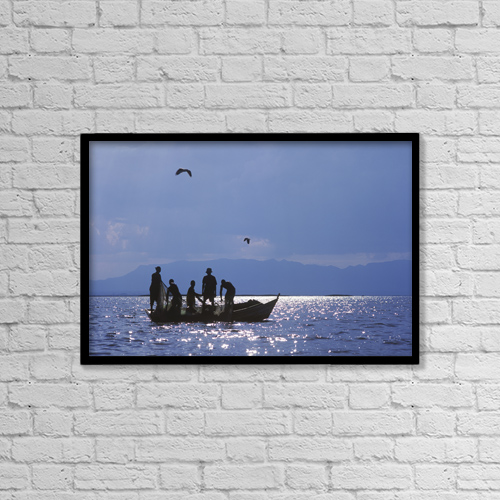 "Printscapes Wall Art: 18"" x 12"" Canvas Print With Black Frame - Animals by Ian Cumming"