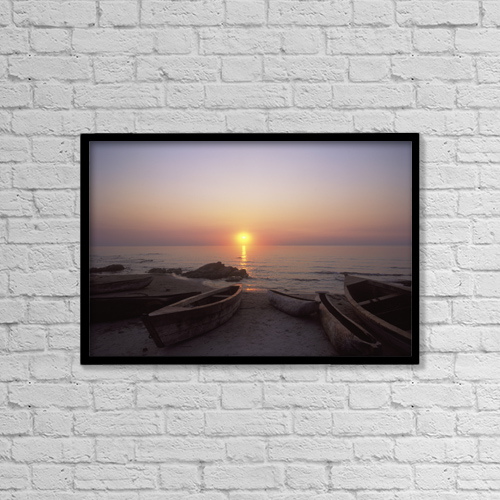 "Printscapes Wall Art: 18"" x 12"" Canvas Print With Black Frame - Sports and Recreation by Ian Cumming"