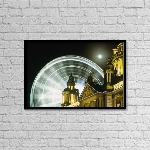 "Printscapes Wall Art: 18"" x 12"" Canvas Print With Black Frame - Architectural Exteriors by Ian Cumming"