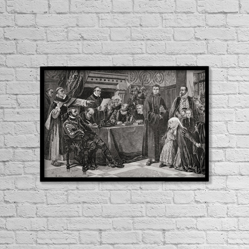 "Printscapes Wall Art: 18"" x 12"" Canvas Print With Black Frame - Religious by Ken Welsh"