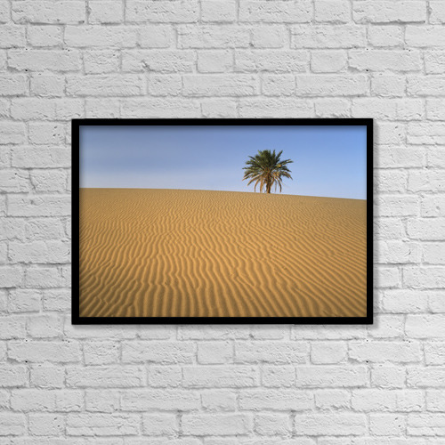 "Printscapes Wall Art: 18"" x 12"" Canvas Print With Black Frame - Erg Chebbi, Merzouga, Morocco by Ian Cumming"
