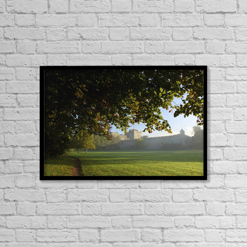 "Printscapes Wall Art: 18"" x 12"" Canvas Print With Black Frame - Cahir Castle by Trish Punch"