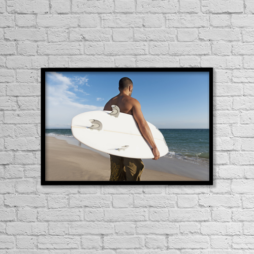 "Printscapes Wall Art: 18"" x 12"" Canvas Print With Black Frame - Lifestyle by Ben Welsh"