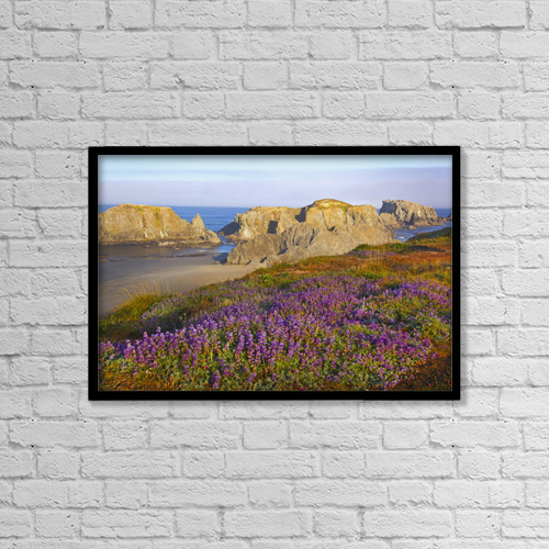 """Printscapes Wall Art: 18"""" x 12"""" Canvas Print With Black Frame - Flowers by Craig Tuttle"""
