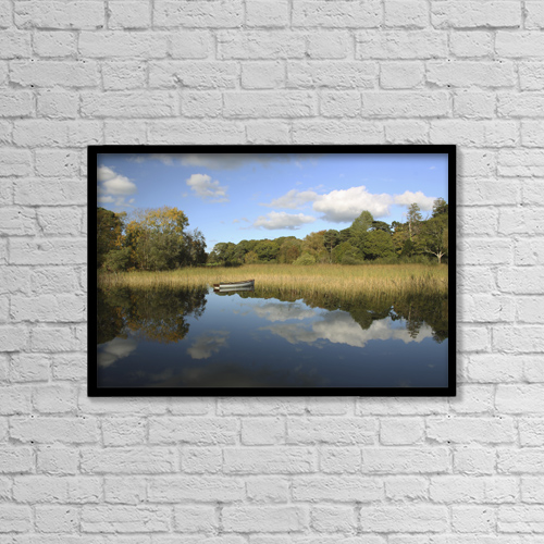 "Printscapes Wall Art: 18"" x 12"" Canvas Print With Black Frame - Nautical by Trish Punch"