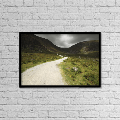 "Printscapes Wall Art: 18"" x 12"" Canvas Print With Black Frame - People by Trish Punch"