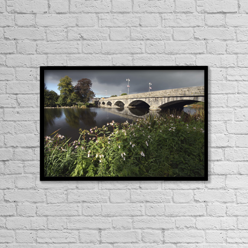 "Printscapes Wall Art: 18"" x 12"" Canvas Print With Black Frame - Blackwater River In Munster Region by Trish Punch"