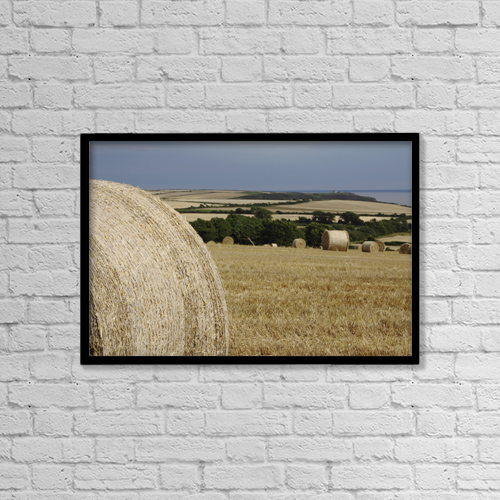 "Printscapes Wall Art: 18"" x 12"" Canvas Print With Black Frame - Agriculture by Trish Punch"