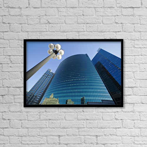 "Printscapes Wall Art: 18"" x 12"" Canvas Print With Black Frame - Architectural Exteriors by Kim Karpeles"