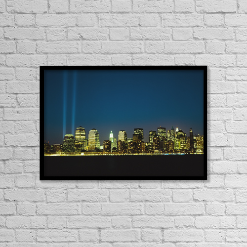 "Printscapes Wall Art: 18"" x 12"" Canvas Print With Black Frame - Architectural Exteriors by Ellen Rooney"