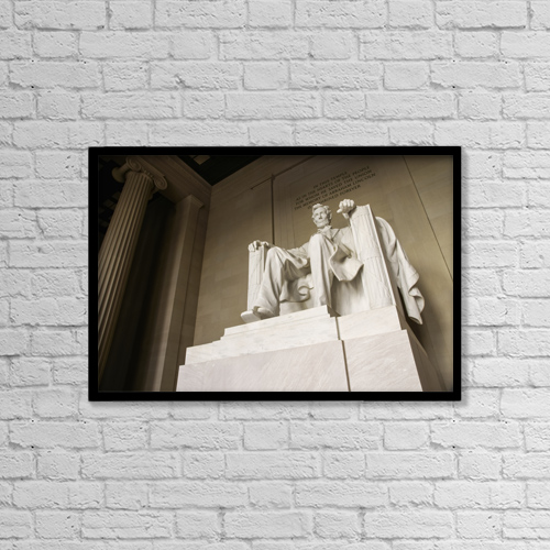 """Printscapes Wall Art: 18"""" x 12"""" Canvas Print With Black Frame - Travel by Marc Jackson"""