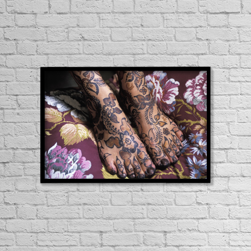 """Printscapes Wall Art: 18"""" x 12"""" Canvas Print With Black Frame - Other by Mitchell Coster"""