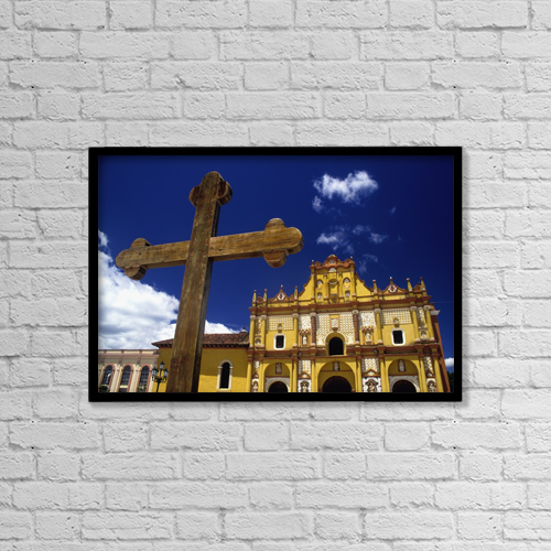 "Printscapes Wall Art: 18"" x 12"" Canvas Print With Black Frame - Travel by Conor Caffrey"