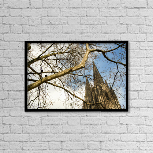 "Printscapes Wall Art: 18"" x 12"" Canvas Print With Black Frame - Architectural Exteriors by Dosfotos"