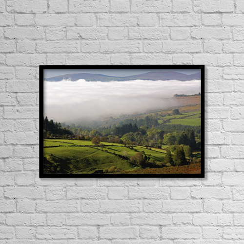 "Printscapes Wall Art: 18"" x 12"" Canvas Print With Black Frame - Nire Valley Landscape by Trish Punch"
