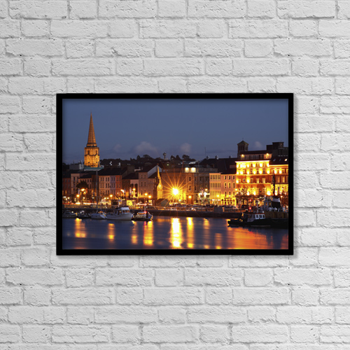 """Printscapes Wall Art: 18"""" x 12"""" Canvas Print With Black Frame - Nautical by Trish Punch"""