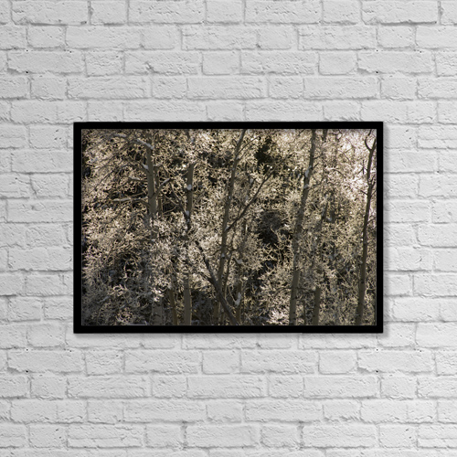 "Printscapes Wall Art: 18"" x 12"" Canvas Print With Black Frame - Weather by Philippe Widling"