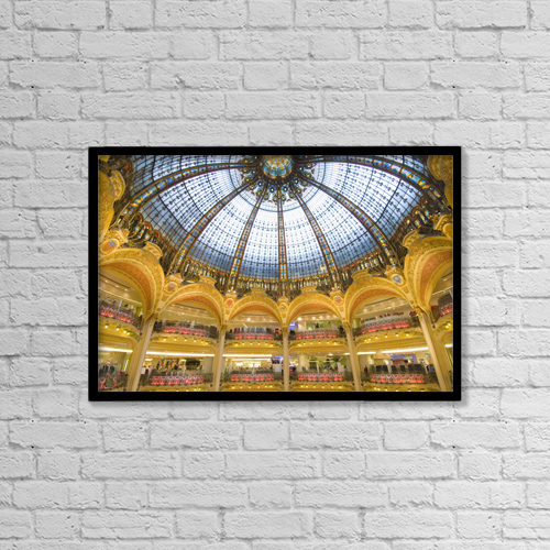 "Printscapes Wall Art: 18"" x 12"" Canvas Print With Black Frame - Architectural Interior by Ian Cumming"