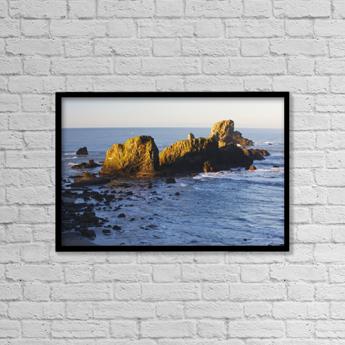 "Printscapes Wall Art: 18"" x 12"" Canvas Print With Black Frame - Nautical by Craig Tuttle"
