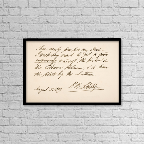 "Printscapes Wall Art: 18"" x 12"" Canvas Print With Black Frame - Percy Bysshe Shelley, 1792 by Ken Welsh"