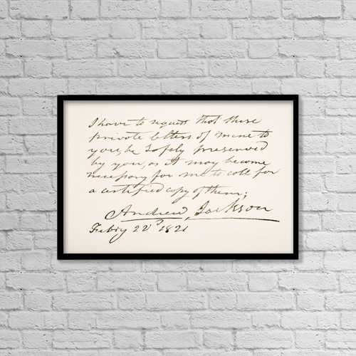 "Printscapes Wall Art: 18"" x 12"" Canvas Print With Black Frame - Andrew Jackson, 1767 - 1845 by Ken Welsh"