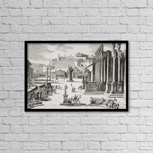 "Printscapes Wall Art: 18"" x 12"" Canvas Print With Black Frame - Shopping by Ken Welsh"