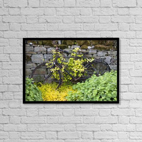 "Printscapes Wall Art: 18"" x 12"" Canvas Print With Black Frame - Transportation by John Short"