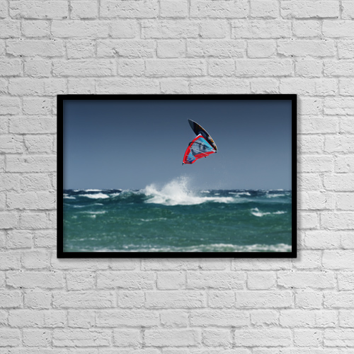 "Printscapes Wall Art: 18"" x 12"" Canvas Print With Black Frame - People by Ben Welsh"