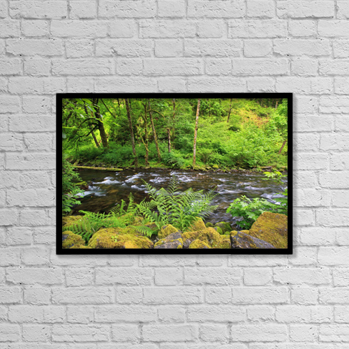 "Printscapes Wall Art: 18"" x 12"" Canvas Print With Black Frame - Scenic by Craig Tuttle"