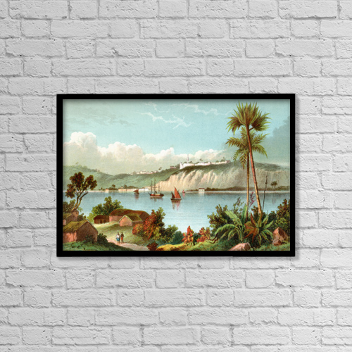 "Printscapes Wall Art: 18"" x 12"" Canvas Print With Black Frame - Luanda, Formerly Named S by Ken Welsh"