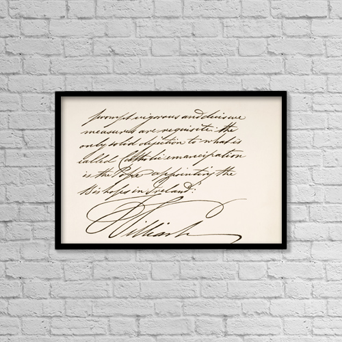 """Printscapes Wall Art: 18"""" x 12"""" Canvas Print With Black Frame - William Iv, 1765 To 1837 by Ken Welsh"""