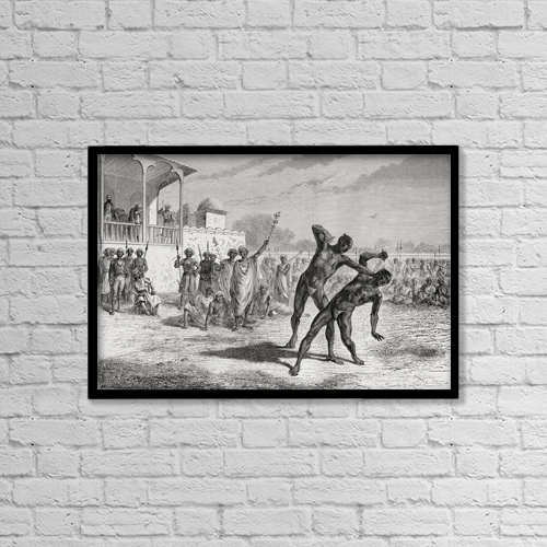 """Printscapes Wall Art: 18"""" x 12"""" Canvas Print With Black Frame - Sports and Recreation by Ken Welsh"""