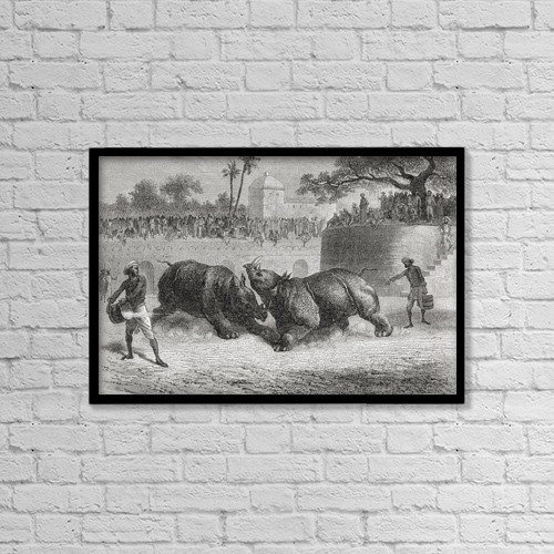 """Printscapes Wall Art: 18"""" x 12"""" Canvas Print With Black Frame - Animals by Ken Welsh"""