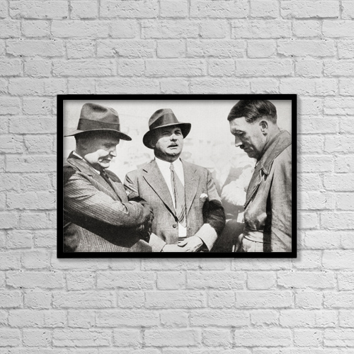 """Printscapes Wall Art: 18"""" x 12"""" Canvas Print With Black Frame - From Left To Right, Hermann Wilhelm G by Ken Welsh"""