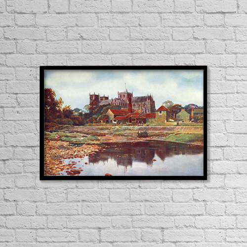 "Printscapes Wall Art: 18"" x 12"" Canvas Print With Black Frame - Architectural Exteriors by Ken Welsh"