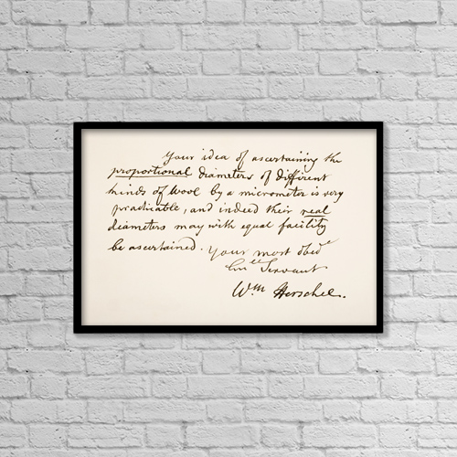 "Printscapes Wall Art: 18"" x 12"" Canvas Print With Black Frame - Sir Frederick William Herschel, 1738 by Ken Welsh"