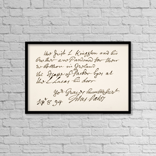 """Printscapes Wall Art: 18"""" x 12"""" Canvas Print With Black Frame - Titus Oates,1649 by Ken Welsh"""