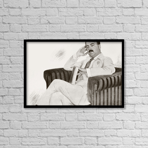 "Printscapes Wall Art: 18"" x 12"" Canvas Print With Black Frame - Manuel Bueno Bengoechea, 1873 - 1936 by Ken Welsh"