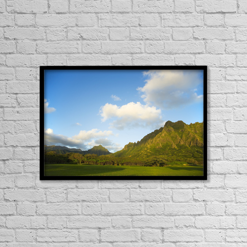 """Printscapes Wall Art: 18"""" x 12"""" Canvas Print With Black Frame - Scenic by Dana Edmunds"""