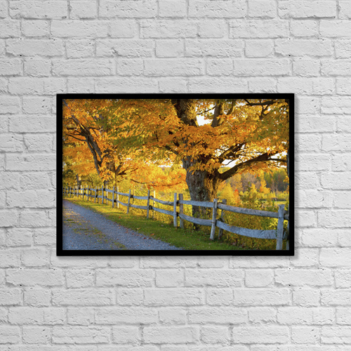 "Printscapes Wall Art: 18"" x 12"" Canvas Print With Black Frame - Roads by David Chapman"